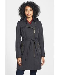 Vince Camuto Waterproof Trench Coat - Lyst