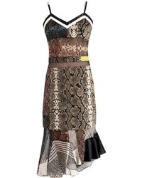 Preen Anje Python-Print Georgette Dress - Lyst