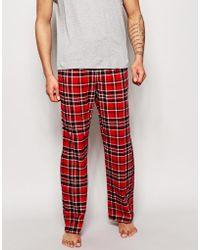 Esprit - Flannel Check Lounge Pants - Lyst