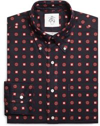 Brooks Brothers Navy Red and White Foulard Button-down Shirt - Lyst