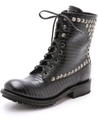 Ash Ralph Studded Boots - Black/Antic Silver - Lyst