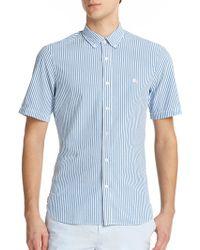 Burberry Brit Estes Seersucker Short-Sleeved Sportshirt blue - Lyst