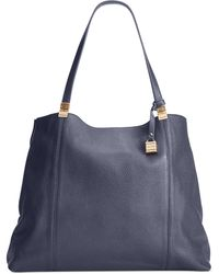 Tommy Hilfiger Th Hinge Pebble Leather Tote - Lyst