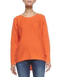 MICHAEL Michael Kors High-low Knit Sweater - Lyst