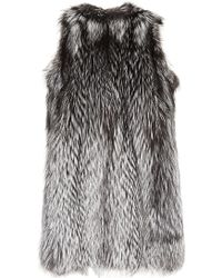 Helen Yarmak International - Silver Fox Hooded Vest - Lyst