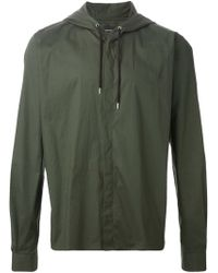 Kris Van Assche Hooded Shirt - Lyst