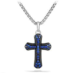 David Yurman Armory Cross Necklace - Lyst