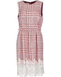 Oscar de la Renta Knee-Length Dress - Lyst