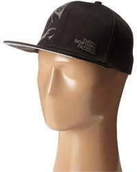 The North Face Stitch Right Flat Brim Hats black - Lyst