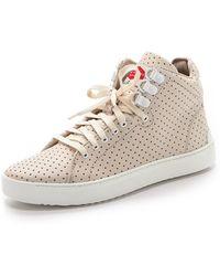 Rag & Bone Kent Perforated High Top Sneaker - White - Lyst