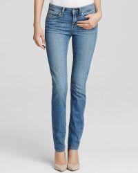 Yummie By Heather Thomson Straight Leg Jeans In Indigo Sandblast - Lyst