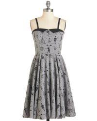 Rock Steady/steady Clothing In Clowning Around Dress In Smoke - Lyst