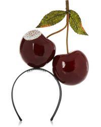 Piers Atkinson - Bitten Cherries Crystal-Embellished Headband - Lyst