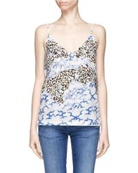 Stella McCartney Flower Embroidery Appliqué Cloud Print Organic Cotton Top multicolor - Lyst