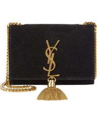 Saint Laurent Suede Small Monogramme Crossbody - Lyst