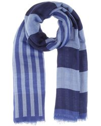 Burberry Brit - Cashmere And Cotton Scarf - Lyst