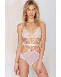 Nasty Gal It'S Complicated Mesh Bodysuit - Lyst
