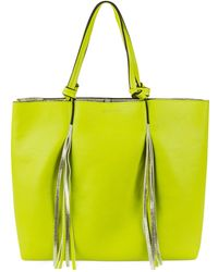 Kenneth Cole Reaction Horizontal Fringe Tote green - Lyst