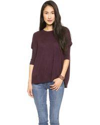Splendid Blend A Line Sweater - Aubergine - Lyst