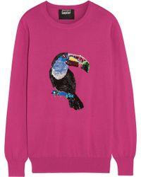 Markus Lupfer 'Toucan' Sequin Natalie Sweater - Lyst