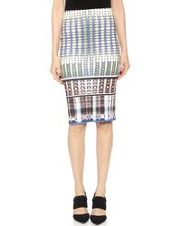 Clover Canyon Donegal Fitted Skirt Multi - Lyst