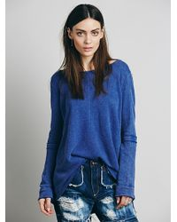 Free People Low Back Shirred Pullover - Lyst