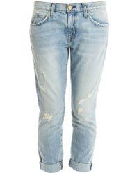 Current/Elliott Fling Destroyed Jeans - Lyst