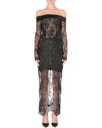 Alessandra Rich Offtheshoulder Lace Dress White - Lyst