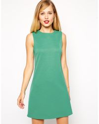 Asos 60s Shift Dress in Rib - Lyst