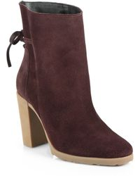 Pierre Hardy Suede Bowdetail Ankle Boots - Lyst
