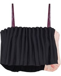 Opening Ceremony Two-tone Pleated Cady Top - Lyst