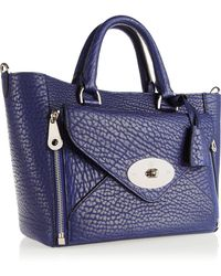 Mulberry The Willow Small Textured-leather Tote - Lyst