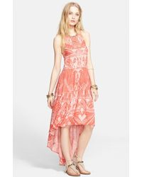 Free People La Mar Printed Maxi Dress pink - Lyst