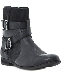 Dune Poot Buckle-detail Leather Boots - Lyst