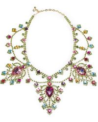 Ralph Lauren Swarovski Pear Drop Necklace multicolor - Lyst