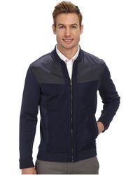Calvin Klein Full Zip Solid Ponte with Nylon Sweatshirt - Lyst