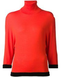 Emanuel Ungaro Contrast Hem Sweater - Lyst