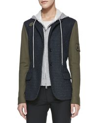 Veronica Beard Armysleeves Jacket with Removable Hoodie Dickey Slate 0 - Lyst