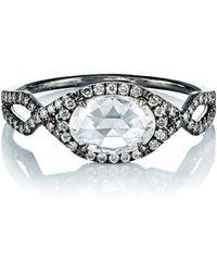 Mp Mineraux - Oval-diamond Ring - Lyst