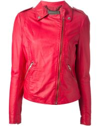 Muubaa Red Biker Jacket - Lyst