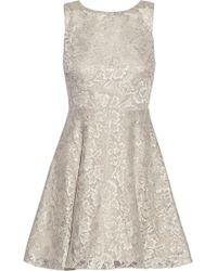 Alice + Olivia Natalia Open-back Lace Mini Dress - Lyst