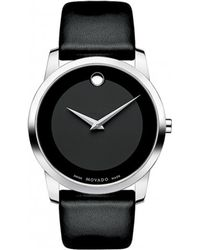 Movado Museum Stainless Steel Watch black - Lyst