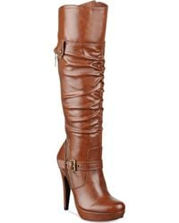 G By Guess Womens Drea Platform Wide Calf Dress Boots - Lyst