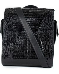 Anne Sisteron - Crocodile & Leather Messenger Bag/backpack - Lyst