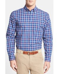 Cutter & Buck 'August' Classic Fit Plaid Poplin Sport Shirt - Lyst