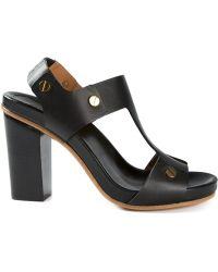 Chloé Block Heel Sandals - Lyst