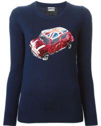 Markus Lupfer British Mini Car Emma Sweater - Lyst