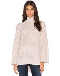 Pink Stitch - Celine Turtleneck Sweater - Lyst