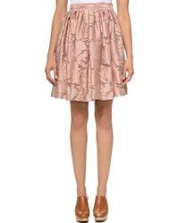 Jill Stuart Fil Coupe Candice Skirt - Blush - Lyst