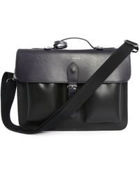 Ted Baker Harlemm Navy Leather Briefcase blue - Lyst